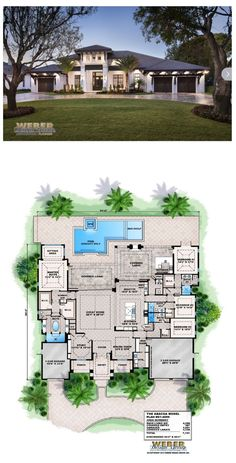 ***This West Indies style single story home plan offers square feet of living space and over square feet of outdoor living and entertainment space. The open-concept floor plan provides easy casual living perfect for entertaining in the great room The Plan, How To Plan, House Plans One Story, Dream House Plans, Dream Houses, Contemporary House Plans, Modern House Plans, Modern Houses, West Indies Style