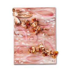 Orchids Collage Painting by Natalia Madunicka on Etsy  #art #painting #combination #orchid #painting #collage #flower #gift #present #colourful #decoration #original