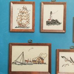 Seascapes 1 Birds, Boats, Beaches Tidewater Originals Needlepoint and Cross Stitch Graphics Virginia C. Creekman 1978 Black/white charts Contents include: - Treasures on the Beach - Gulls - Sandpipers - Whistling Swans - Canada Geese - Mallards - Canvasbacks - Lighthouses - Old