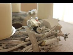 Adventskranz im Shabby-Stil - YouTube