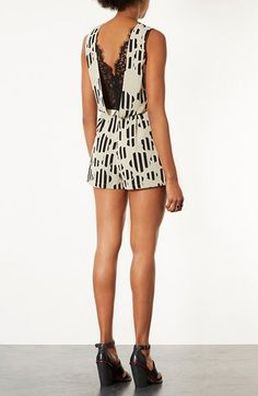 Will have!Topshop Lace Back Romper   Nordstrom
