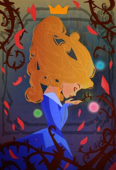 Sleeping Beauty art. I love the way this looks. I also love the princess as she is my favorite.