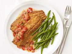 Cornmeal-Crusted Trout recipe from Food Network Kitchen via Food Network