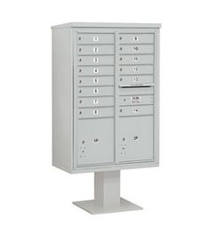 4C Pedestal Mailbox (Includes 13 Inch High Pedestal and Master Commercial Locks) - 13 Door High Unit (63-1/4 Inches) - Double Column - 14 MB1 Doors / 2 PL5 - Gray by Salsbury Industries. $1586.32. 4C Pedestal Mailbox (Includes 13 Inch High Pedestal and Master Commercial Locks) - 13 Door High Unit (63-1/4 Inches) - Double Column - 14 MB1 Doors / 2 PL5 - Gray - Salsbury Industries - 820996455024