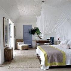 breezy beachy cottage coastal bedroom canopy sheer mosquito net