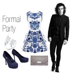 """""""Formal Party with Harry Styles"""" by niaaofficial on Polyvore featuring Yves Saint Laurent and Calvin Klein"""
