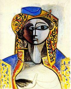 Jacqueline in turkish costume Pablo Picasso, 1955