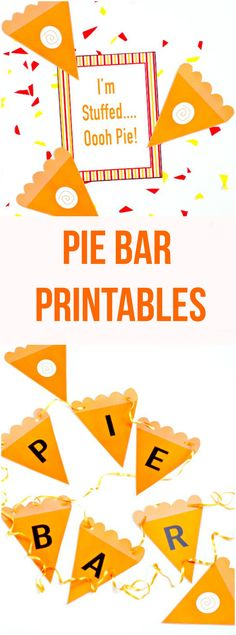 Pie Bar Printables