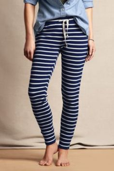 My god, these are fabulous leggings ! Women's Candy Cane Leggings from Lands' End Canvas