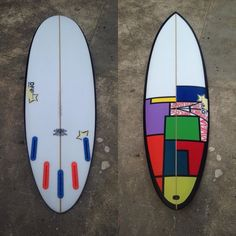 How sweet is this Little Criitter model. 5'10 x 20 x 2 3/8 with 5 x futures single to bonzer double concave out of tail and a little bit of air brush and posca work and now on its way to Paris France hey Benny #surfing #gosurf #summer #shortboards #handmade #handshaped #torquay #bellsbeach #fish #futures #surfboards #surfart #surfboardart by dickosurf http://ift.tt/1KnoFsa