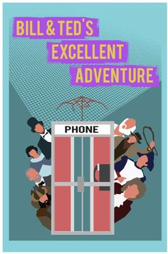 Bill and Ted's Excellent Adventure geekery retro poster minimalist art movie poster print art poster print 11x17. $19.00, via Etsy.