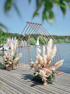 Pampas wedding Cooper arch Пампасная свадьба Пампасная трава Медная арка Classic Wedding Gowns, Luxury Wedding
