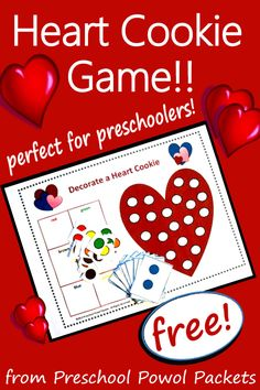 A fun, free Valentines game for preschoolers!