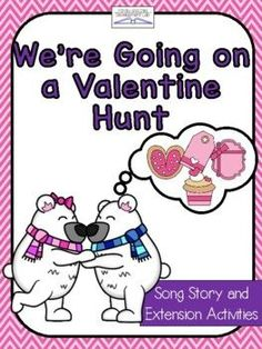 """""""We're going on a Valentine Hunt"""" is a fun twist to the beloved book, """"We're going on a bear hunt"""". This book extension is a creative and fun way to celebrate Valentine's Day with your students. Use this product to create a unit on it's own or add to a themed unit on friendship and Valentine's Day. ... Sequencing Cards, Story Sequencing, Educational Activities, Preschool Activities, Vocabulary Word Walls, Beloved Book, Writing Paper, Writing Skills, Read Aloud"""