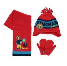 FIREMAN SAM ~ 3pc Knitted Set