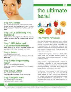 Arbonne Ultimate Facial!  A smart way to get GORGEOUS Youthful looking skin!!  Visit our on line shop at www.arbonne.com Id#14000067