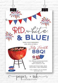 Fourth of July BBQ Invitation