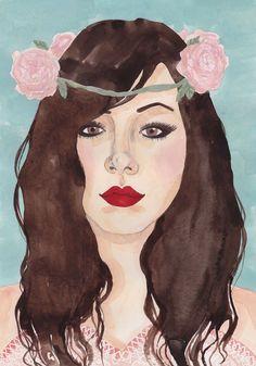 Flower Crowns - Art by Caitlin Shearer