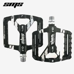 SMS Road XC AM MTB Mountain Bike Bicycle Pedal 3 Bearings Flat Pedals Blue Gold