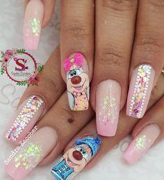 Hello Nails, Christmas Nails, Acrylic Nails, Nail Designs, Nail Art, Beauty, Pretty Nails, Mariana, Classy Gel Nails