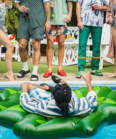 """We built the collection around a 'pool to party' concept that can take you from your casual side vibes, all the way to your suave evening loafer,"" says Snoop about the exclusive footwear line with Duke + Dexter."