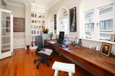 Windows above Long desk
