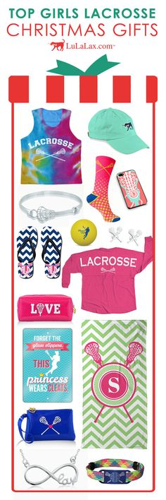 Need Christmas Gift ideas for the Lacrosse Girl in your life? We've got you covered! LuLaLax has girls lacrosse pinnies, lacrosse jewelry, lacrosse socks, accessories, and everything in between! Most products can be personalized with your name or lacrosse number, too! Find these girls lax gifts only at LuLaLax.com!