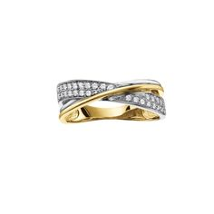 Two toned dinner ring