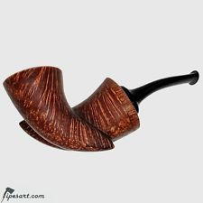 NEW SMOOTH DOUBLE HORN CALABASH SMOKING PIPE BY RUSSIAN MASTER KOTLYAR