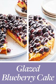 Glazed Blueberry Cake #purewow #easy #baking #food #dessert #recipe #cake