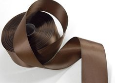 Satin Ribbon Double Face Brown