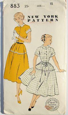 Vintage 1940s Dress Pattern New York Patterns 883 UNUSED 40s  33 bust size 15. $12.00, via Etsy.