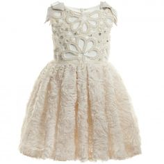 I Pinco Pallino - Ivory Lace, Pearl & Jewel Dress | CHILDRENSALON