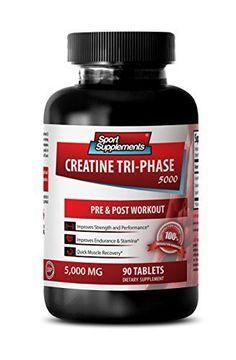 Creatine bulk - Creatine Tri Phase - Enhances brain function (1 Bottle - 90 Tablets) *** For more information, visit image link.
