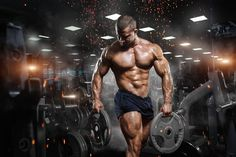Muscular athletic bodybuilder fitness model posing after exercises in gym Poster Sport Motivation, Fitness Motivation, Fun Workouts, At Home Workouts, Workout Routines, Ace Fitness, Fitness Music, Video Fitness, Fitness Men