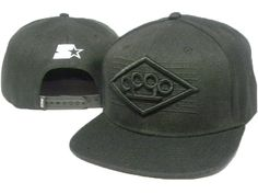 Deep Caps Snapback Hats All Black