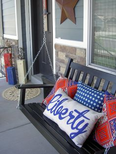 Large stand along firecrackers for front porch decor.