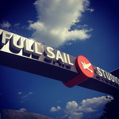 Just doing a little mid-day tanning under the @FullSail archway. #photooftheday