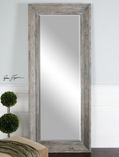 master retreat full Length mirror great size Love the reclaimed wood 34x82