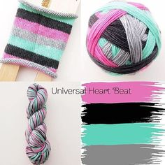 I added more ready-to-ship skeins of Universal Heartbeat to the shop this morning