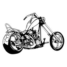 Chopper Motorcycle 2 Graphics SVG Dxf EPS Png Cdr Ai Pdf Vector Art Clipart instant download Digital Cut Print File Cricut Silhouette Decal by VectorartDesigns on Etsy