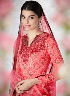 Buy Print Work Cotton Multi Colour Designer Palazzo Suit Online : Switzerland - Party Wear Salwar Suits