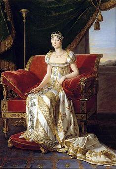Pauline Bonaparte, Princess Borghese & sister of Napoleon, by Marie Guilhelmine Benoist 1808