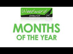 ENGLISH VIDEO: Months of the Year in English - Each month appears on the screen by itself and is pronounced twice. - Then a list of the twelve months appears and the pronunciation of each month is given. (The list is said quickly) - Next there is a simple quiz of which month is missing. ( January, ____, March). There is a pause before the answer appears. - Finally there is the question: What is your favorite/favourite month?