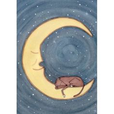 Italian Greyhound Art - Sleeping on the Moon