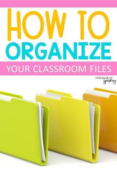 Organizing your classroom files and filing cabinet made easy! Use these tips to help you figure out how to best utilize your filing space and how to keep it organized. Filing Cabinet Organization, Teacher Organization, Teacher Hacks, Filing Cabinets, Organization Ideas, Organizing Paperwork, Teacher Tools, Teacher Resources, Teacher Stuff