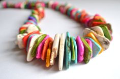 The Ghana 2 Multi Color Magnesite Beaded by danaleblancdesigns, $58.00