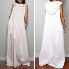 Preself новый летний женская мода макси белье хлопка с упаковка платье с капюшоном Большой размер белый высокое качество купить на AliExpress