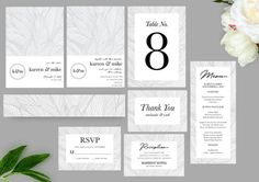 Botanical Leaves wedding set package template invitation.  Botanical Leaves Wedding Invitation suite includes: 5x7 Wedding Invitation (1) 5x7 Save the Date Card (1) 3.5x5 RSVP card (1) 3.5x5 Thank you card (1) Menu Card Belly Band Reception Card Table Number  EDIT FROM THE SELLER : - Checkout - Wedding Invitation Sets, Wedding Sets, Invitation Suite, Invites, Save The Date Designs, Christmas Card Template, Reception Card, Wedding Templates, Menu Cards