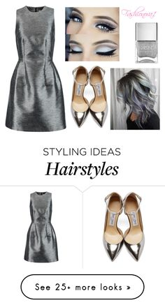 """""""Everything silver"""" by fashionova1 on Polyvore featuring Iris & Ink, Jimmy Choo and Nails Inc."""